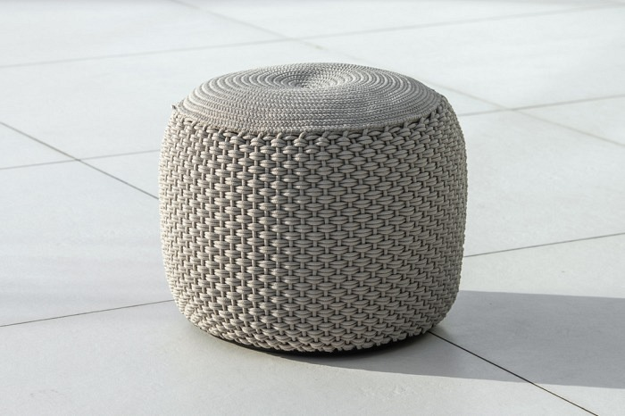Pouf taupe